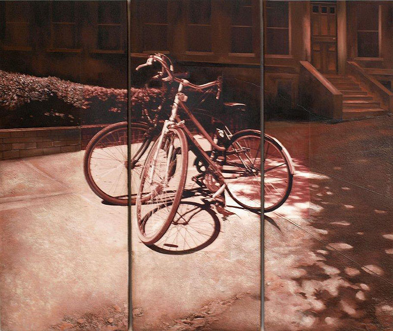 Robert Mielenhausen. Radiance. 47 x 54 inches. Triptych.