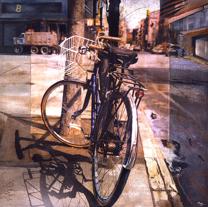 Robert Mielenhausen, Facing Broome St., 32x32 inches.