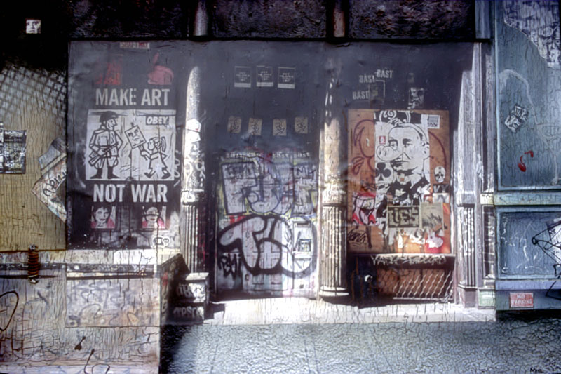 Robert Mielenhausen, Make Art Not War, 28x40 inches, sold.