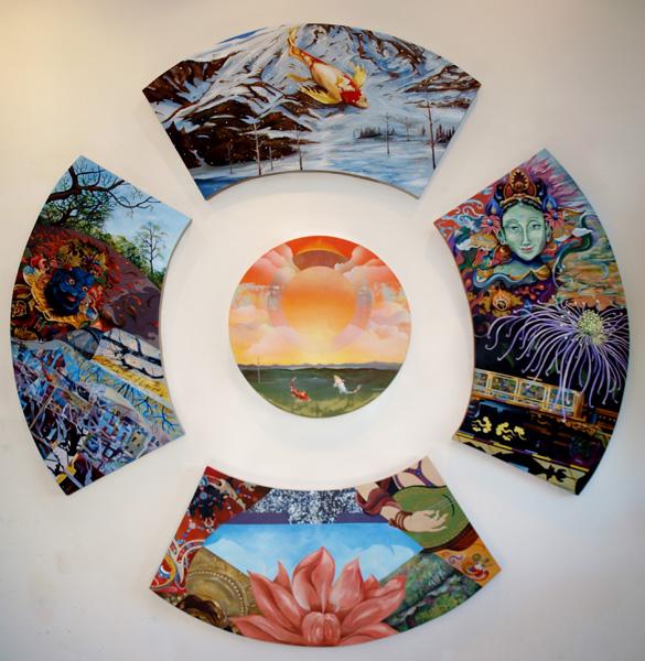 Samsara 94 x 94 inches. Acrylic on shaped canvas
