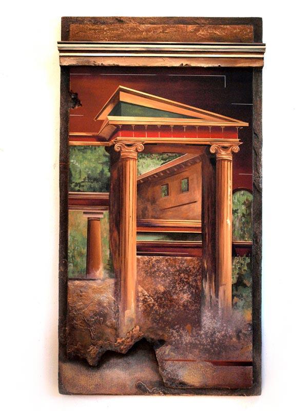 Robert Mielenhausen, Villa Poppea, 60x32 inches.