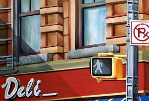 "Robert Mielenhausen, Look Both Ways 36"" x 52"" acrylic"
